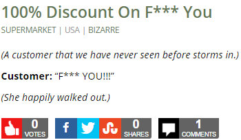 100% Discount On F*** You